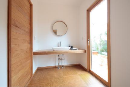 家事動線を考えた洗面室