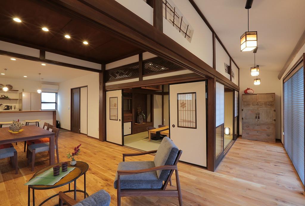 廊下部分も部屋と繋げて一体的な空間へ。